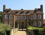 The front of Groombridge Manor, near Crowborough