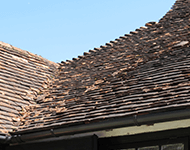 Defects on roof tiles in Groombridge, near Crowborough